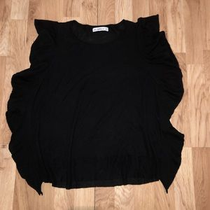 Zara Knot Black Ruffle Sleeve Medium